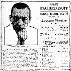Elmira NY Morning Telegram 1919 Rachmaninoff concert